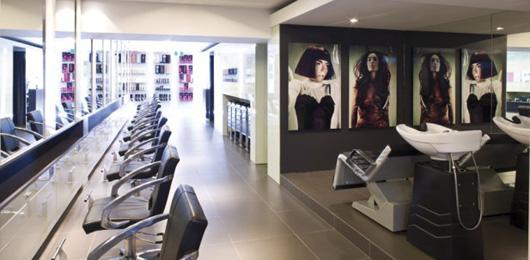 Art panels in an hair salon