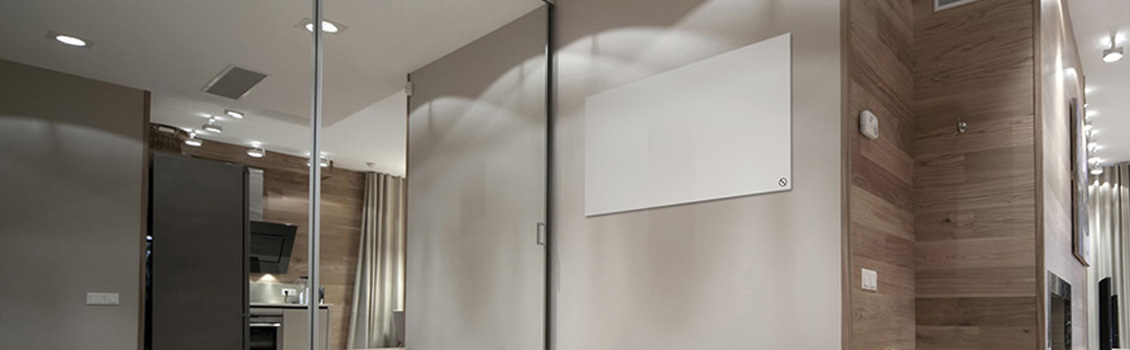 White Glass Panel in home