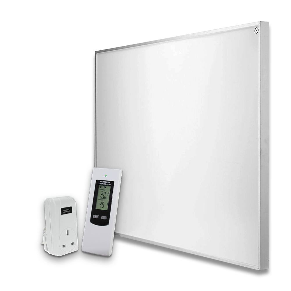 600w Infrared Panel Heater With Thermostat Energy Saving