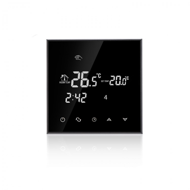 Touch Screen Digital Heating Thermostat Weekly Programmable 16a