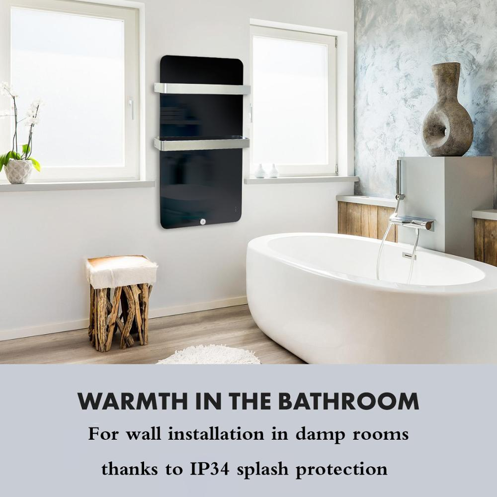 Electric-Bathroom-Radiator-Panel-Heater-with-Two-Towel-Rails-Wall-Mounted